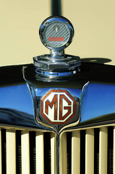 Photograph - 1951 Mg Td Messko Thermometer Hood Ornament by Jill Reger