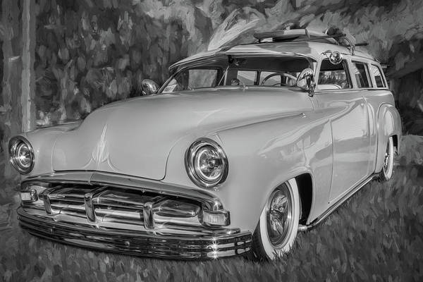 Photograph - 1951 Plymouth Suburban 2 Door Station Wagon Bw 002 by Rich Franco
