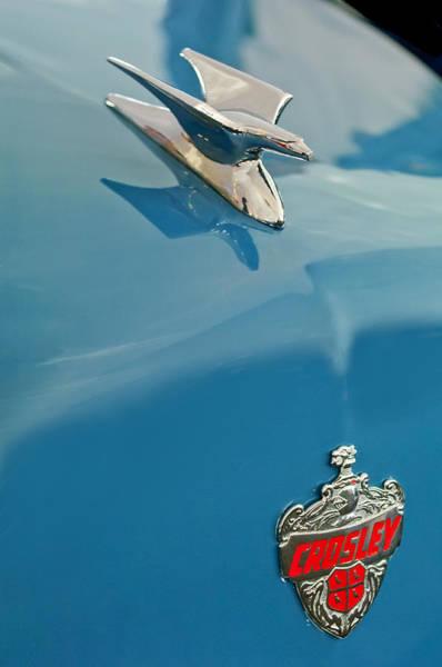 Photograph - 1952 Crosley Super Woody Wagon Hood Ornament by Jill Reger
