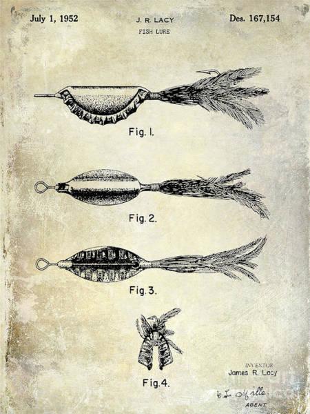 Redfish Lake Photograph - 1952 Fishing Lure Patent  by Jon Neidert
