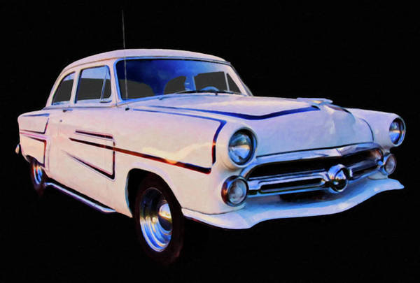 Painting - 1952 Ford Coupe Digtal Oil by Chris Flees