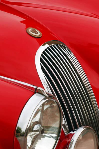Photograph - 1952 Jaguar Xk 120 Grille Emblem by Jill Reger