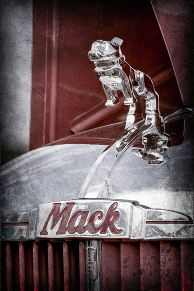 Mack Photograph - 1952 L Model Mack Pumper Fire Truck Hood Ornament -0179ac by Jill Reger