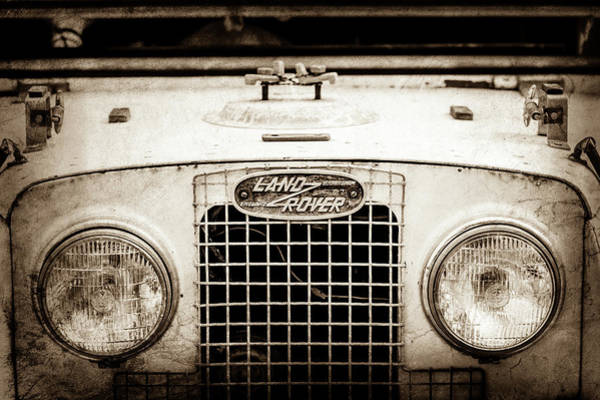 Photograph - 1952 Land Rover 80 Grille -0988s1 by Jill Reger
