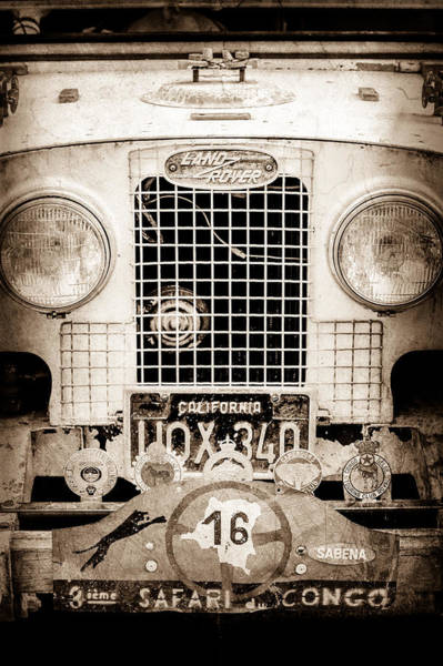 Photograph - 1952 Land Rover 80 Grille -1003s by Jill Reger