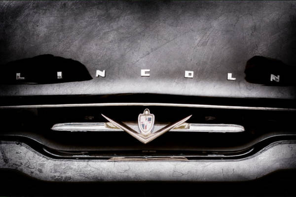 Wall Art - Photograph - 1952 Lincoln Derham Town Car Grille Emblem -0423ac by Jill Reger