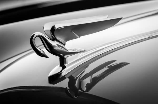 Photograph - 1952 Packard 200 Sedan Hood Ornament -1185bw by Jill Reger