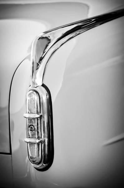 Photograph - 1952 Packard 200 Sedan Taillight -1173bw by Jill Reger
