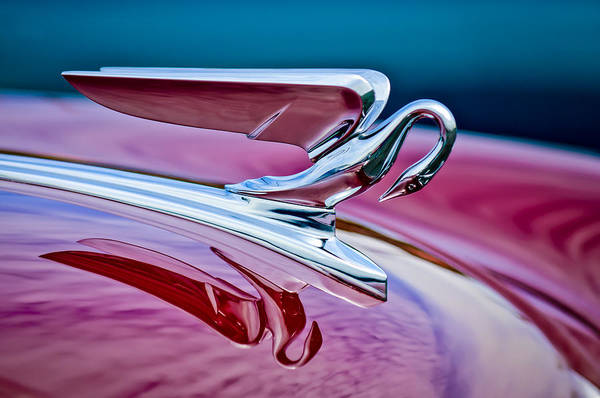 Vintage Hood Ornaments Photograph - 1952 Packard 400 Hood Ornament by Jill Reger