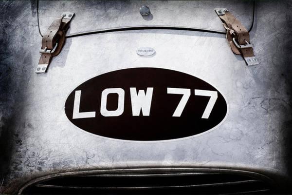 Photograph - 1952 Torero Mg Barchetta Sports Racer Hood Emblem -0448ac by Jill Reger