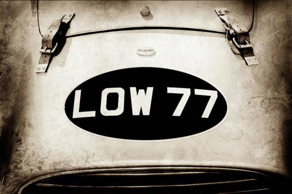 Torero Wall Art - Photograph - 1952 Torero Mg Barchetta Sports Racer Hood Emblem -0448s by Jill Reger