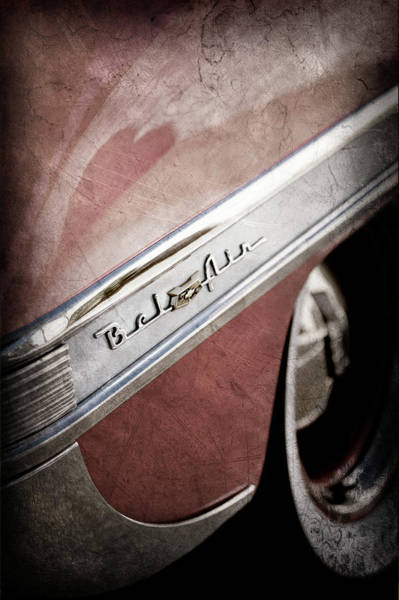 Wall Art - Photograph - 1953 Chevrolet Belair Emblem -641ac by Jill Reger