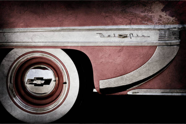 Wall Art - Photograph - 1953 Chevrolet Belair Wheel Emblem -609ac by Jill Reger