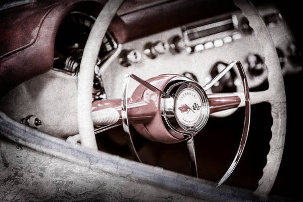 Wall Art - Photograph - 1953 Chevrolet Corvette Steering Wheel Emblem -1400ac by Jill Reger