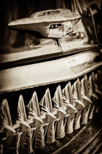 Wall Art - Photograph - 1953 Chevrolet Grille Emblem -632s by Jill Reger