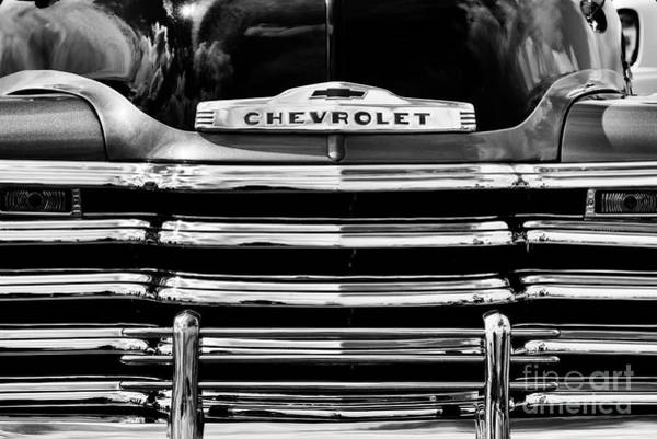 Photograph - 1953 Chevy Pickup Grille by Tim Gainey