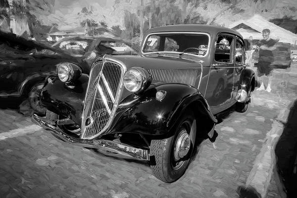 Photograph - 1953 Citroen Traction Avant Bw by Rich Franco