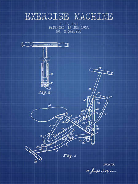 1953 Exercising Device Patent Spbb07_bp Art Print