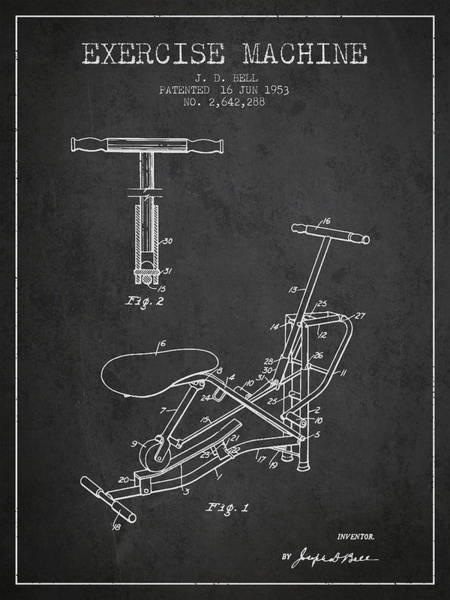1953 Exercising Device Patent Spbb07_cg Art Print