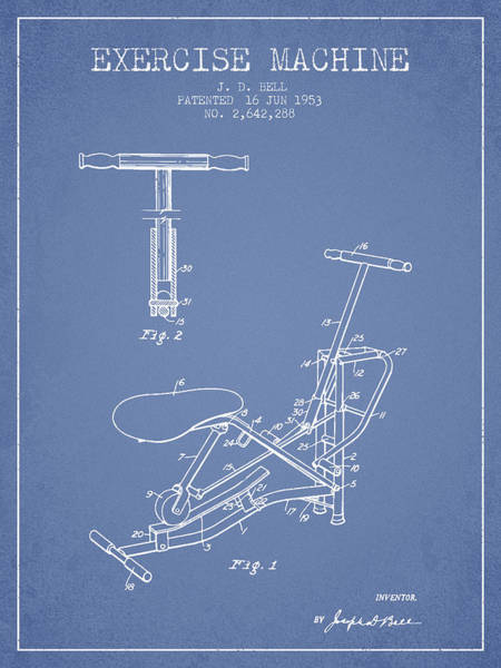 1953 Exercising Device Patent Spbb07_lb Art Print