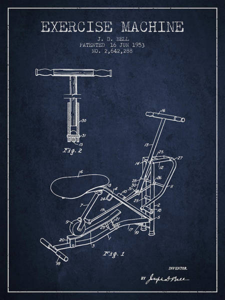 1953 Exercising Device Patent Spbb07_nb Art Print