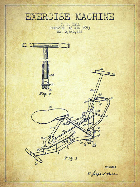 1953 Exercising Device Patent Spbb07_vn Art Print