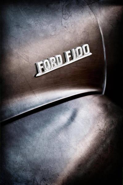 Photograph - 1953 Ford F-100 Pickup Truck Emblem -0367ac by Jill Reger
