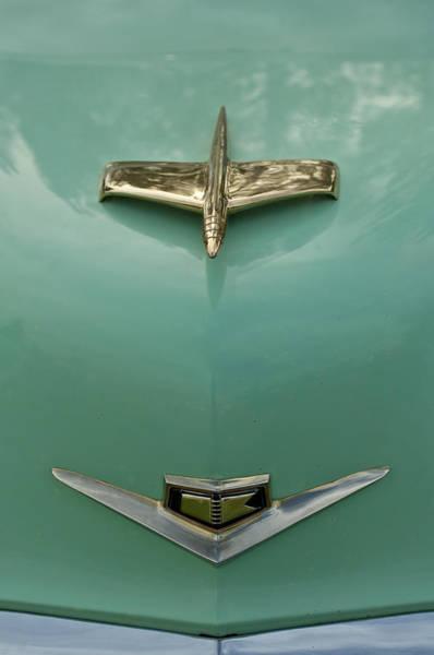 Photograph - 1953 Golden Dragon Kaiser Hood Ornament 2 by Jill Reger