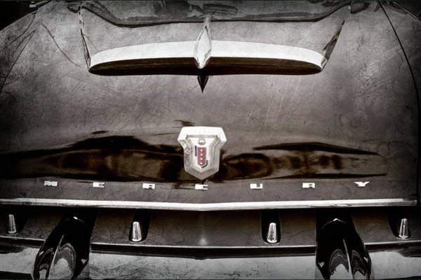 Photograph - 1953 Mercury Monterey Convertible Hood Ornament - Emblem -0092ac by Jill Reger