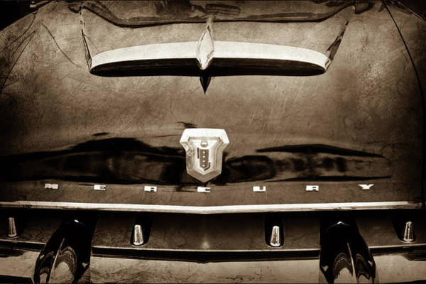 Photograph - 1953 Mercury Monterey Convertible Hood Ornament - Emblem -0092s by Jill Reger