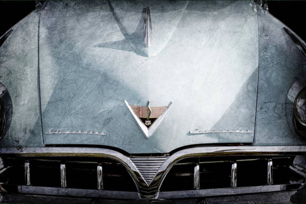 Wall Art - Photograph - 1953 Studebaker Emblem - Hood Ornament -0072ac by Jill Reger