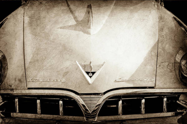 Wall Art - Photograph - 1953 Studebaker Emblem - Hood Ornament -0072s by Jill Reger