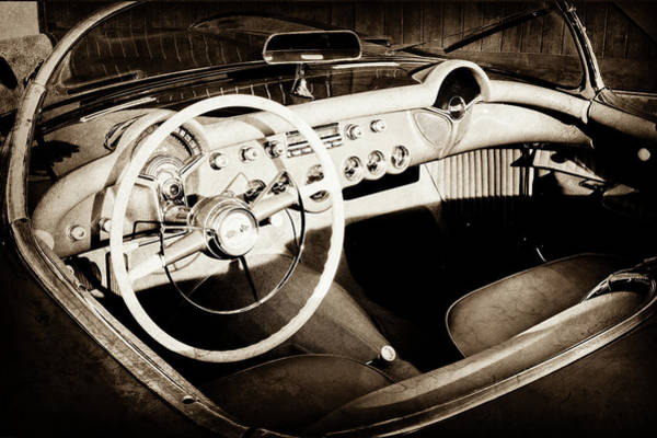 Photograph - 1954 Chevrolet Corvette Steering Wheel -442s by Jill Reger