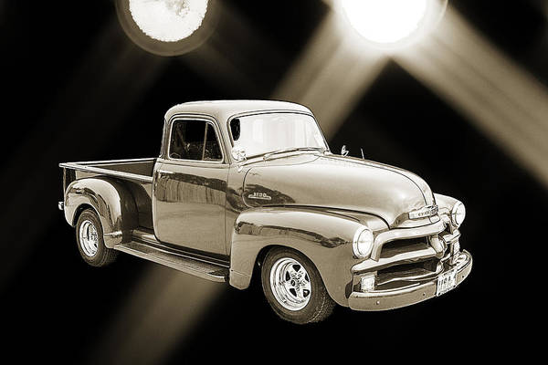 Photograph - 1954 Chevrolet Pickup Classic Car Photograph 6734.01 by M K Miller