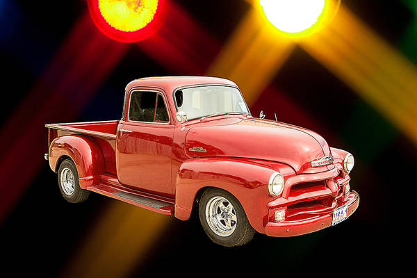 Photograph - 1954 Chevrolet Pickup Classic Car Photograph 6734.02 by M K Miller