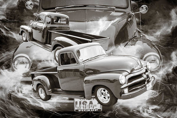 Photograph - 1954 Chevrolet Pickup Classic Car Photograph 6735.01 by M K Miller