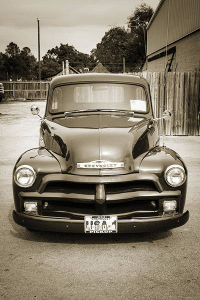 Photograph - 1954 Chevrolet Pickup Classic Car Photograph 6738.01 by M K Miller