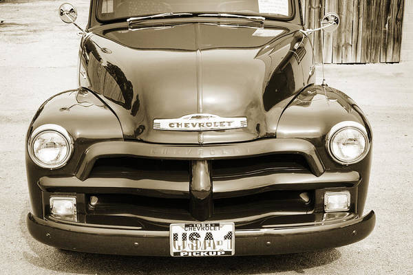 Photograph - 1954 Chevrolet Pickup Classic Car Photograph 6739.01 by M K Miller