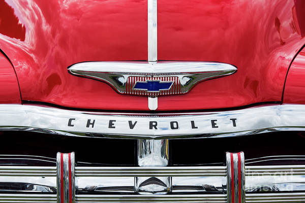 Photograph - 1954 Red Chevrolet Pickup by Tim Gainey