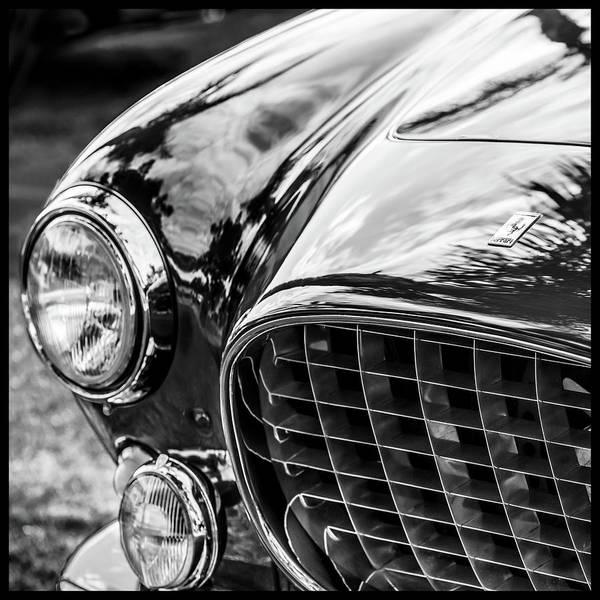 Photograph - 1954 Ferrari Europa 250 Gt Grille -1336bw10 by Jill Reger