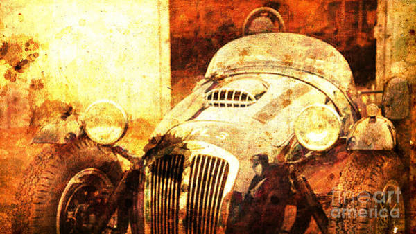Race Car Painting - 1954 Frazer Nash Le Mans by Drawspots Illustrations