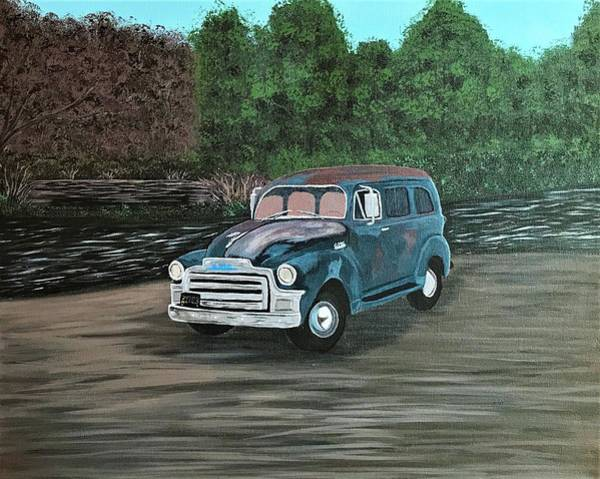 Wall Art - Painting - 1954 Gmc Suburban by Willy Proctor