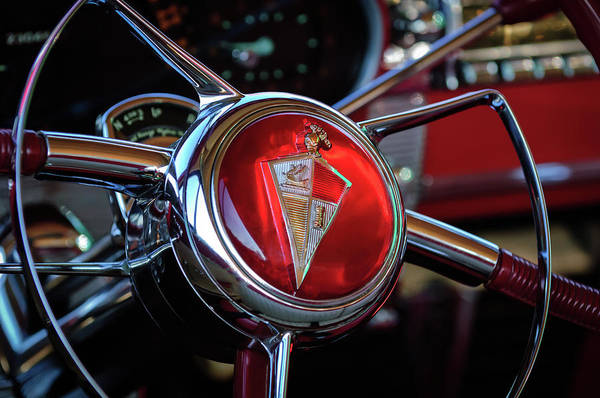 Photograph - 1954 Hudson Steering Wheel by Jill Reger