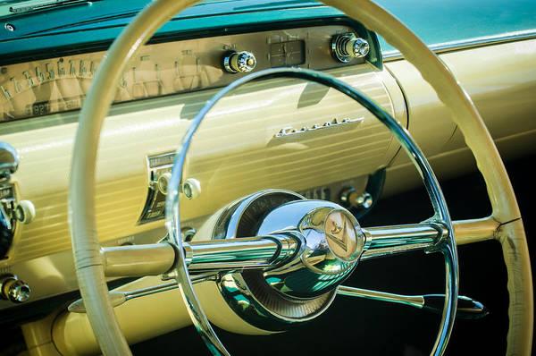 Photograph - 1954 Lincoln Capri Steering Wheel -0150c by Jill Reger