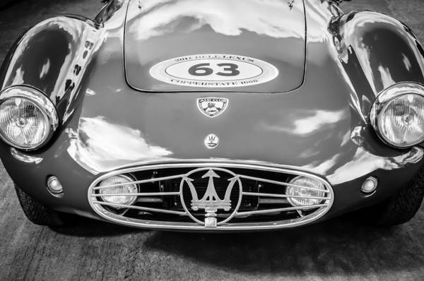 Exotic Car Photograph - 1954 Maserati A6 Gcs -0255bw by Jill Reger