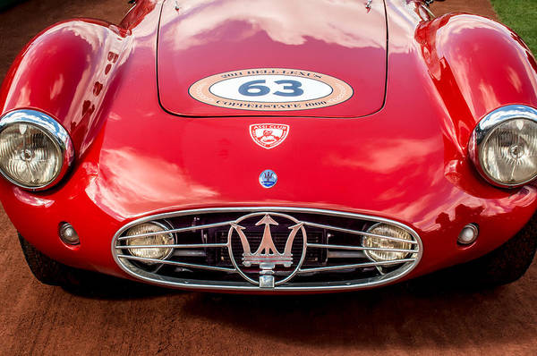 1954 Photograph - 1954 Maserati A6 Gcs Grille -0255c by Jill Reger
