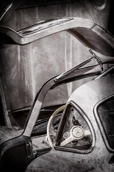 Wall Art - Photograph - 1954 Mercedes-benz 300sl Gullwing Steering Wheel -1653ac by Jill Reger