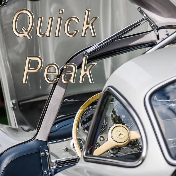 Wall Art - Photograph - 1954 Mercedes-benz 300sl Gullwing Steering Wheel -1653th by Jill Reger