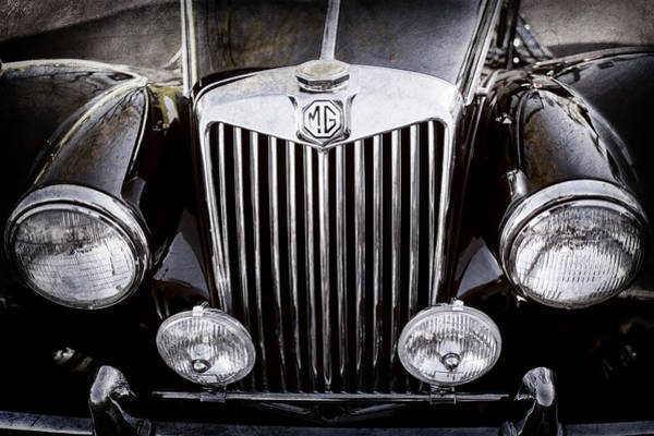 Photograph - 1954 Mg Tf Grille Emblem -0165ac by Jill Reger