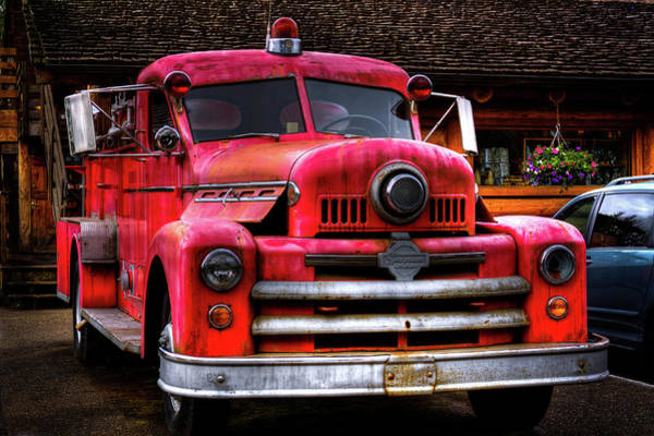 Photograph - 1954 Seagrave Fire Truck by David Patterson